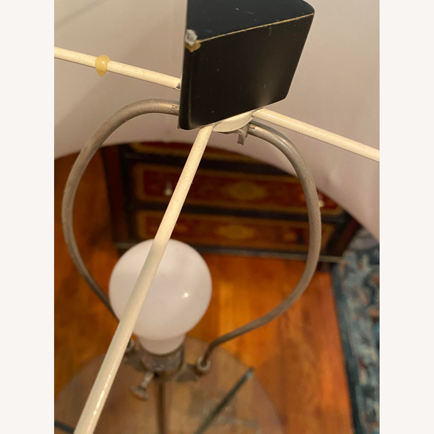Glass Tray Table Floor Lamp w/ Drum Shade - image-6