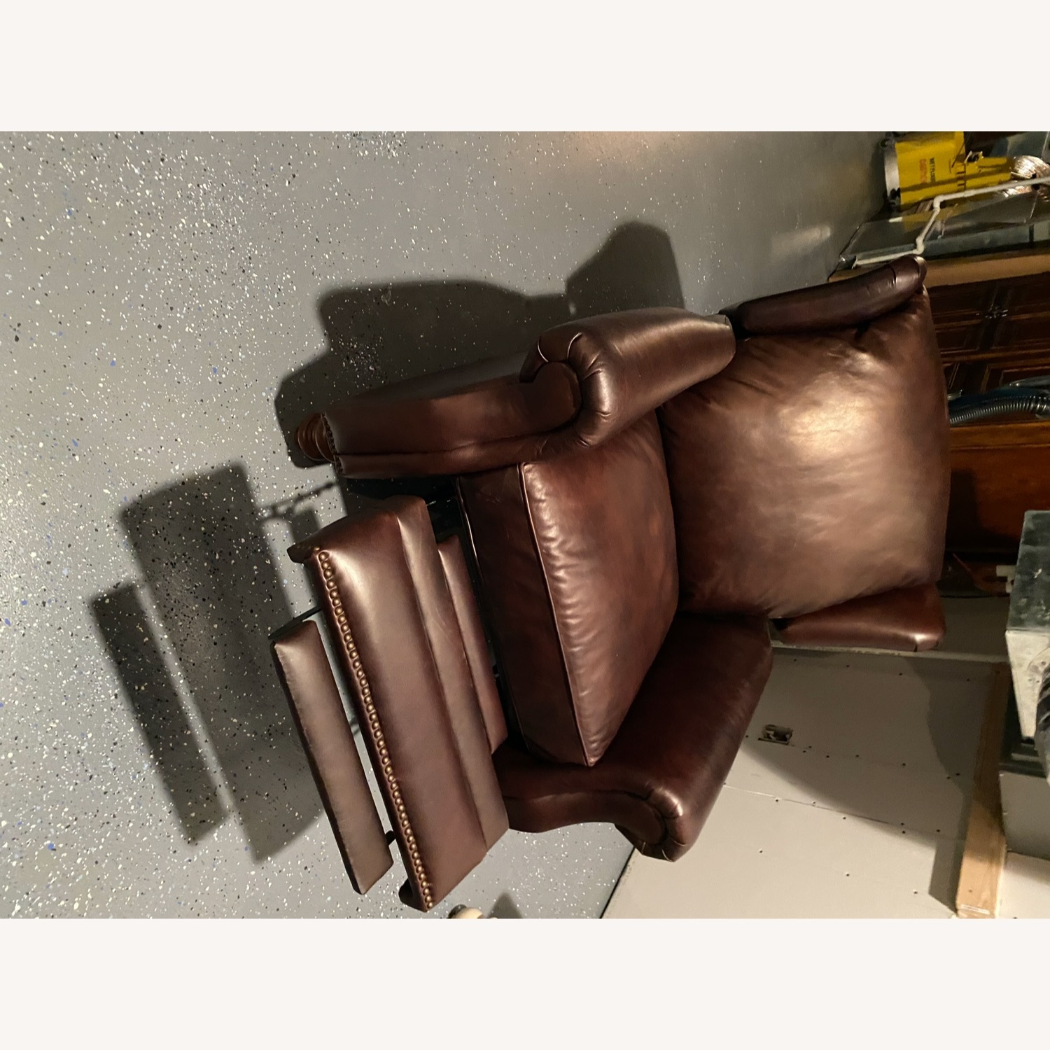Pottery Barn Leather Recliner - image-2