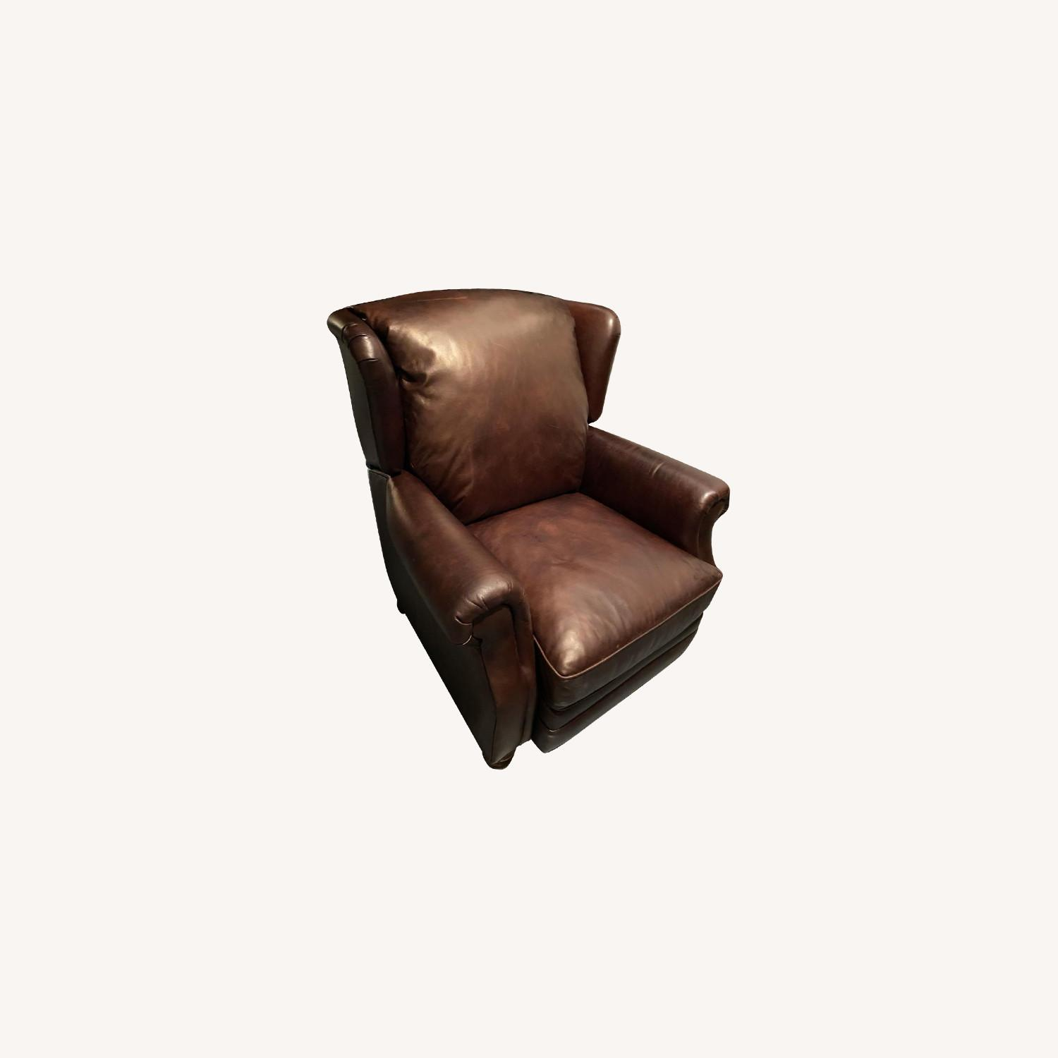 Pottery Barn Leather Recliner - image-0