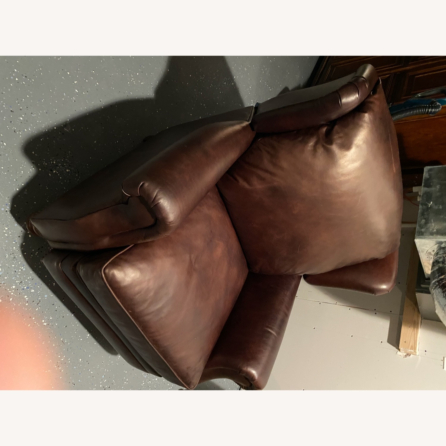 Pottery Barn Leather Recliner - image-3