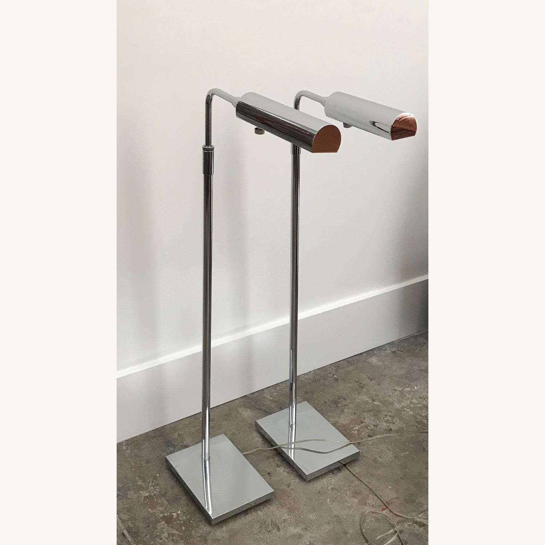 Koch & Lowy MCM Chrome Pharmacy Floor Lamps - image-1