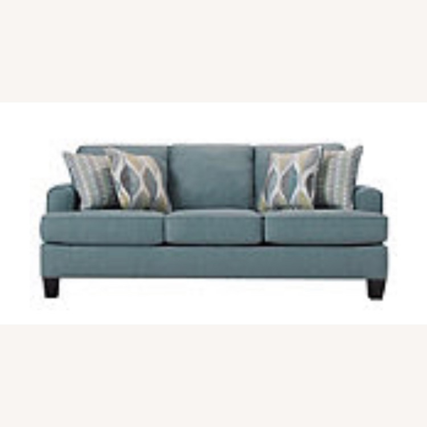 Picture of: Raymour Flanigan Blue Queen Sleeper Sofa Aptdeco