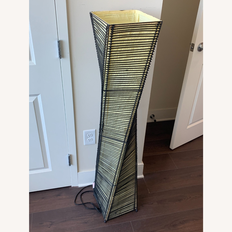 Stix Black Cane 50 in. Black/Beige Floor Lantern - image-2