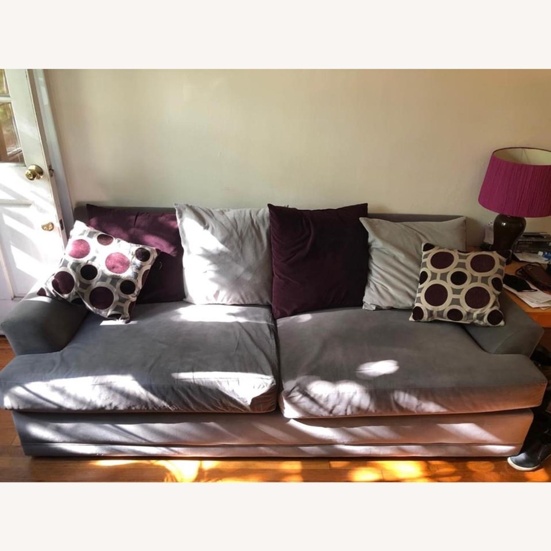 American Signature Gray Sofa - image-1