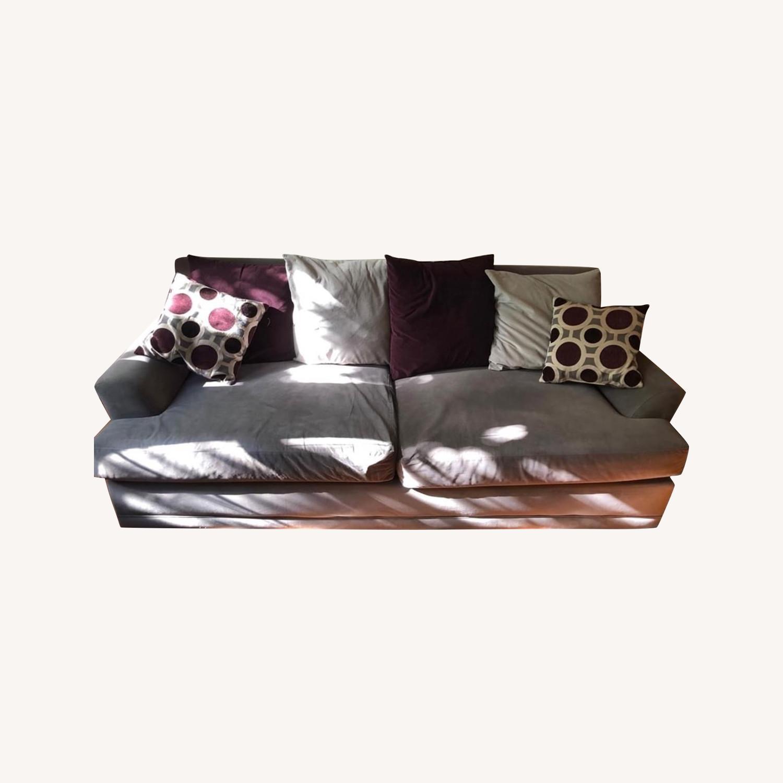 American Signature Gray Sofa - image-0