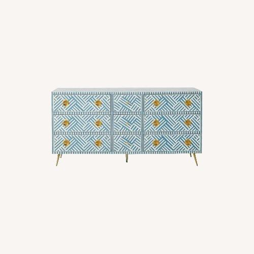 Used Anthropologie Optical Inlay Nine-Drawer Dresser for sale on AptDeco