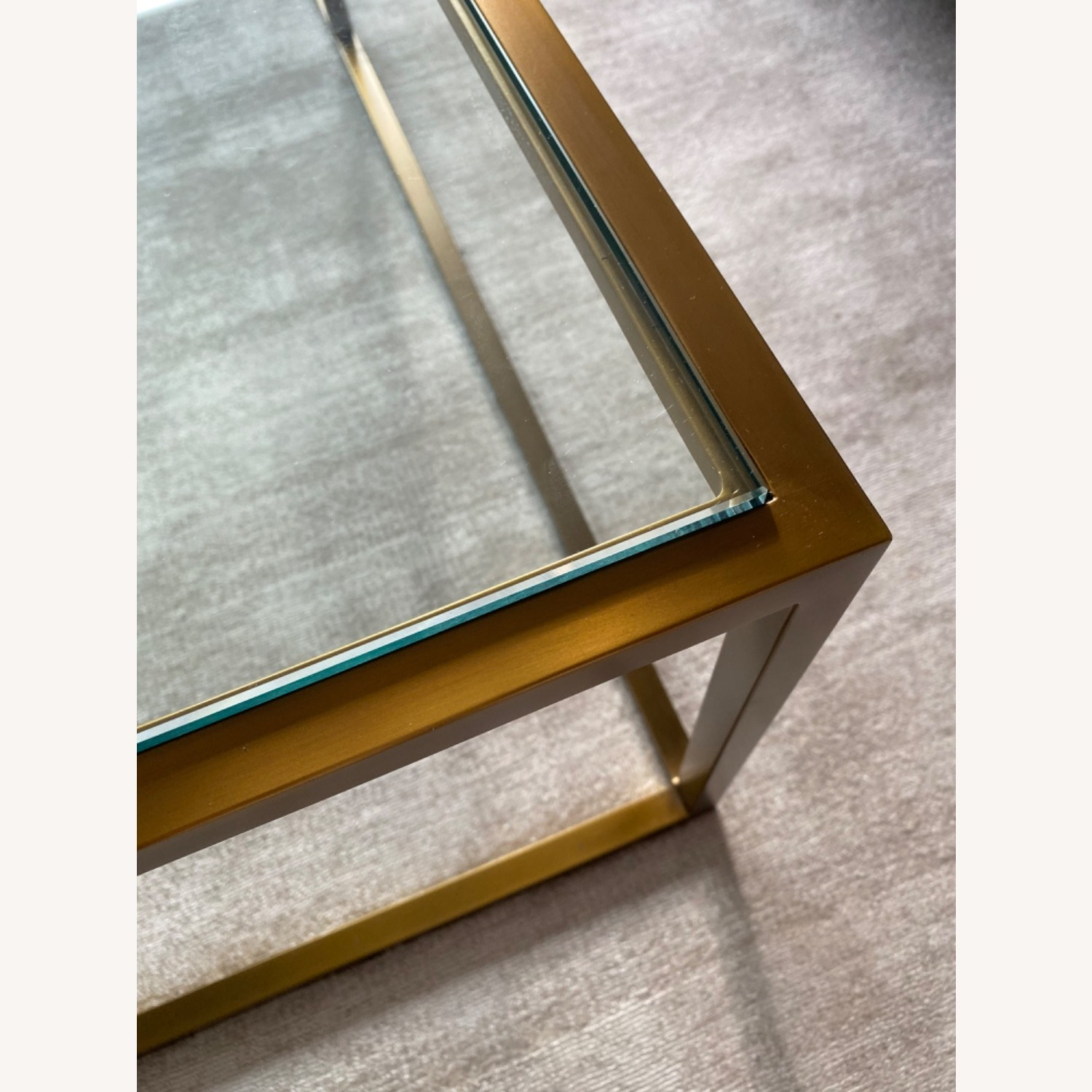 Restoration Hardware Burnished Brass Coffee Table - image-5