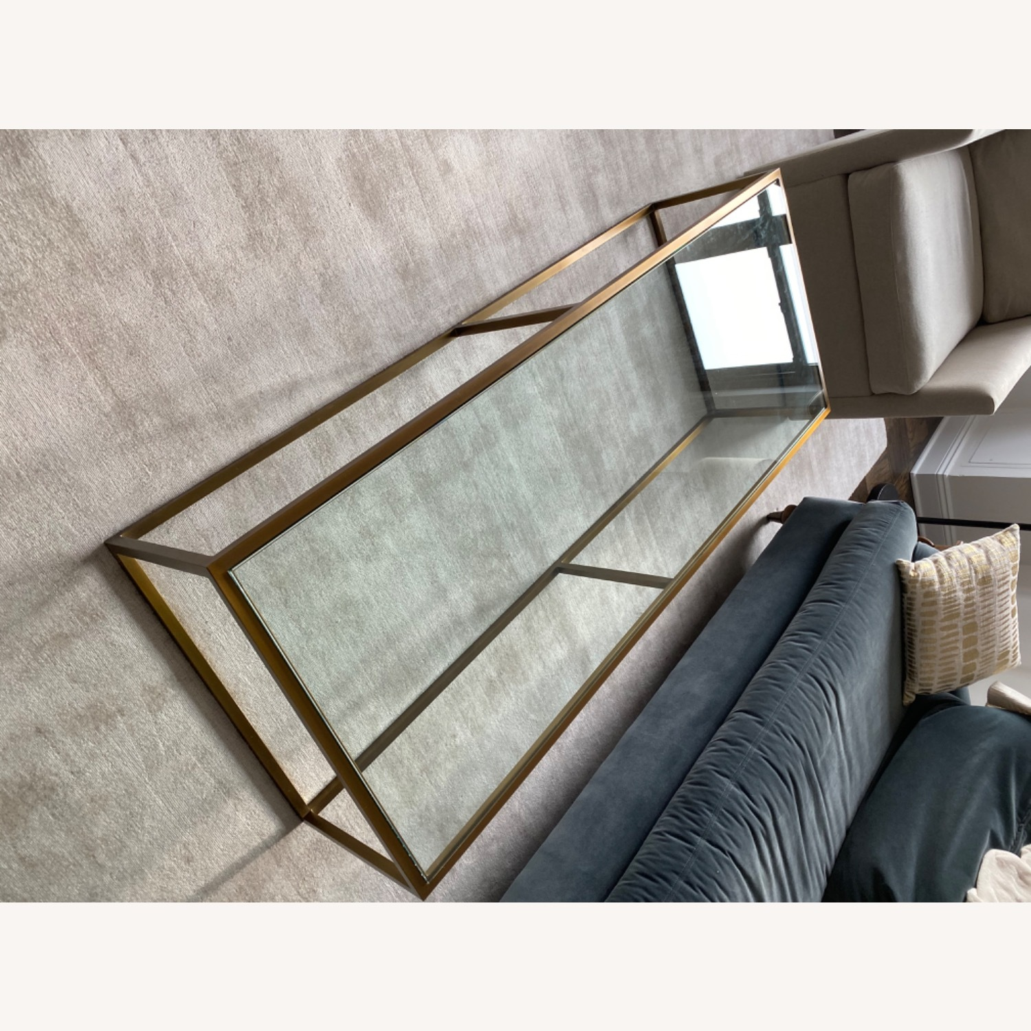 Restoration Hardware Burnished Brass Coffee Table - image-1