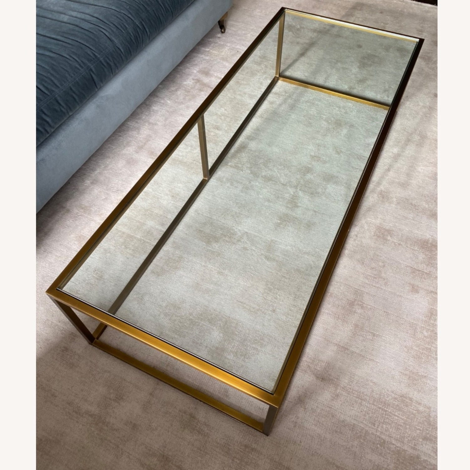 Restoration Hardware Burnished Brass Coffee Table - image-4
