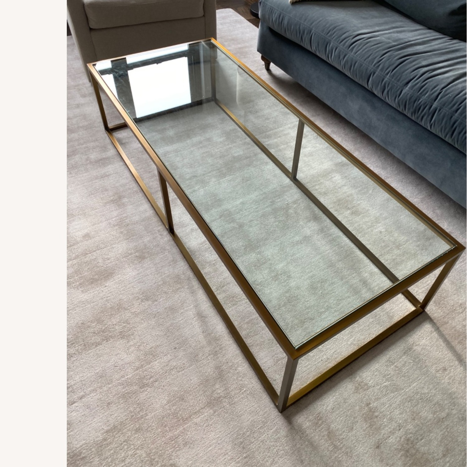 Restoration Hardware Burnished Brass Coffee Table - image-0
