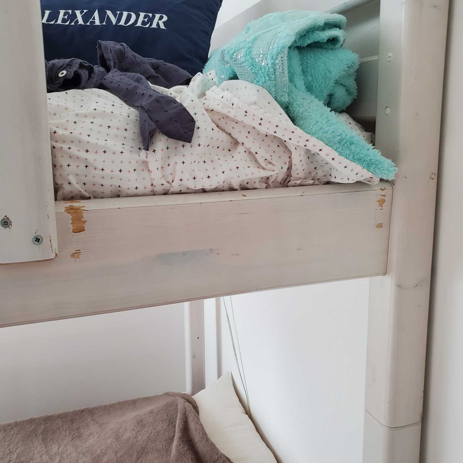 Flexa Classic High Bed with Straight Ladder - image-3
