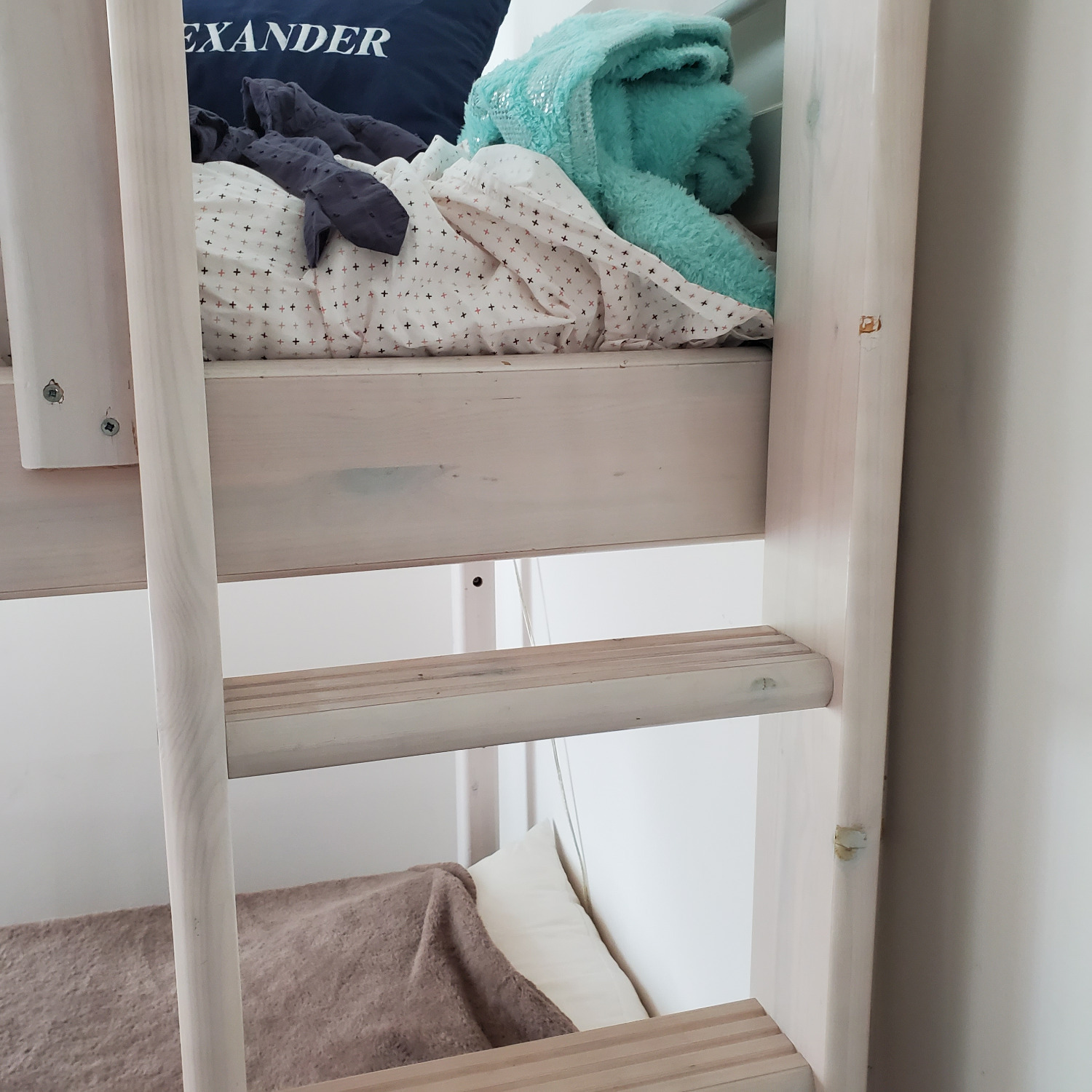 Flexa Classic High Bed with Straight Ladder - image-2