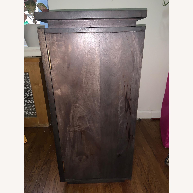 CB2 Brass Inlay Cabinet - image-1