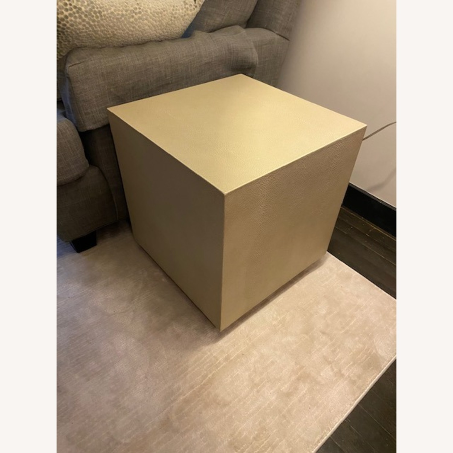 Restoration Hardware Leather Side Table - image-4