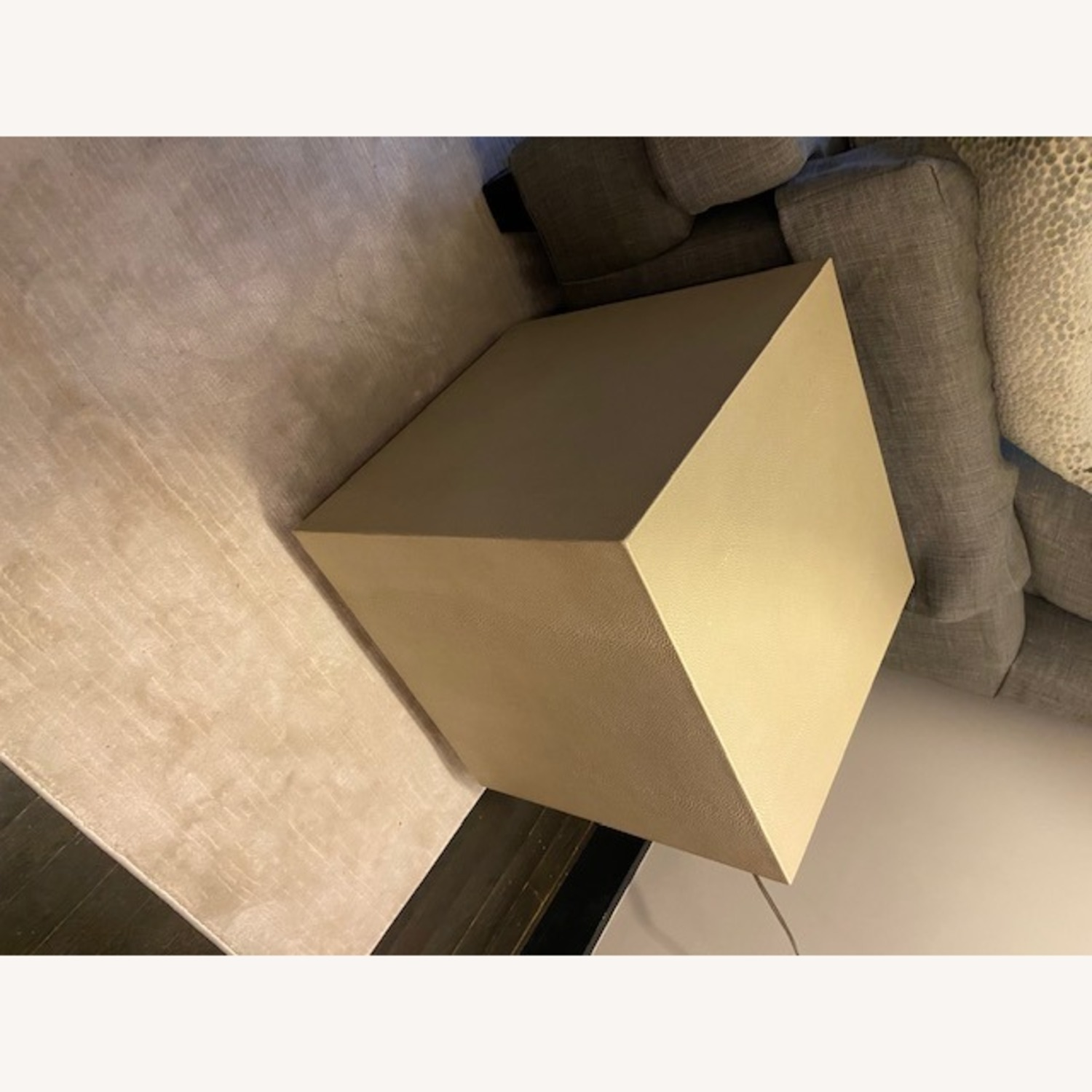 Restoration Hardware Leather Side Table - image-7