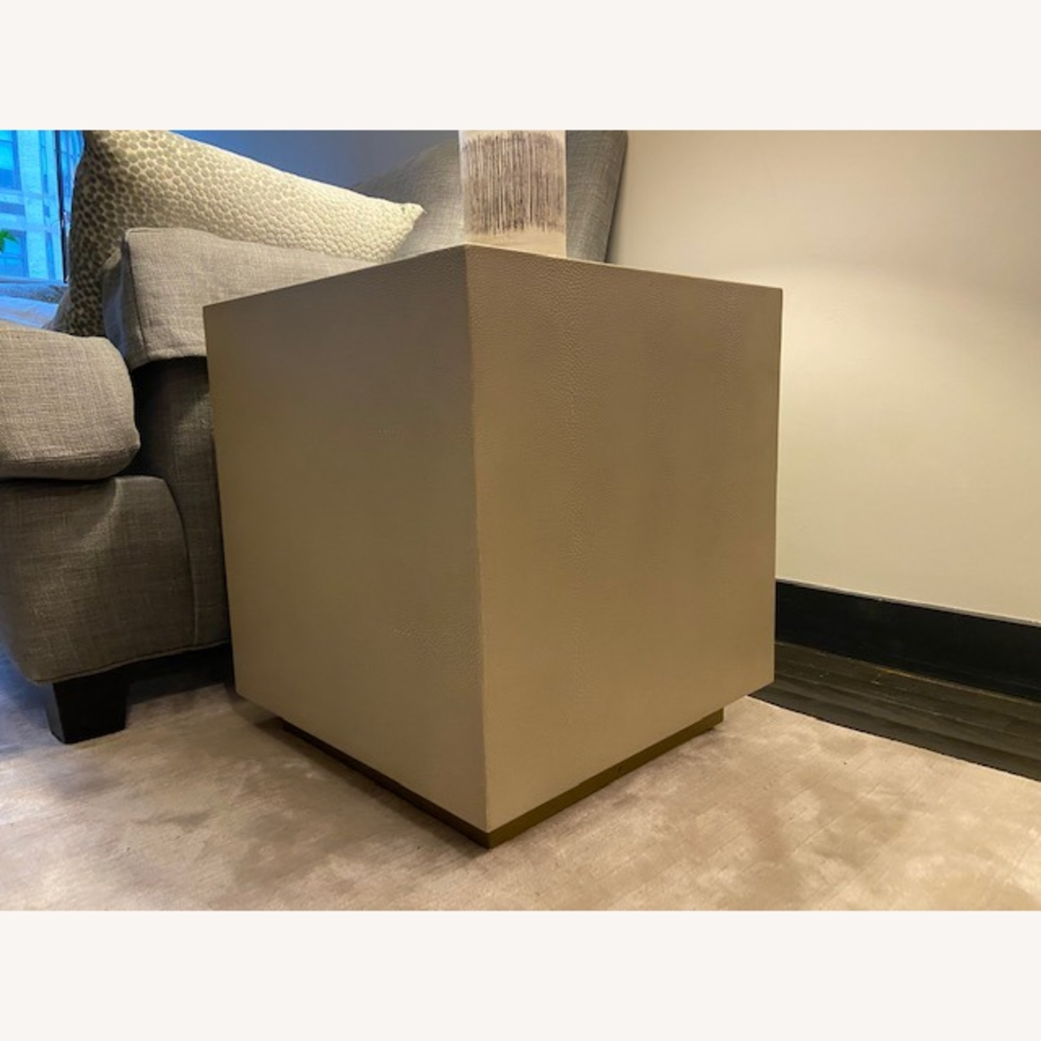 Restoration Hardware Leather Side Table - image-3