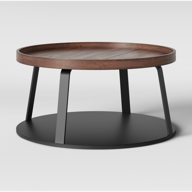 Target Norman Wood/Metal Coffee Table - image-1