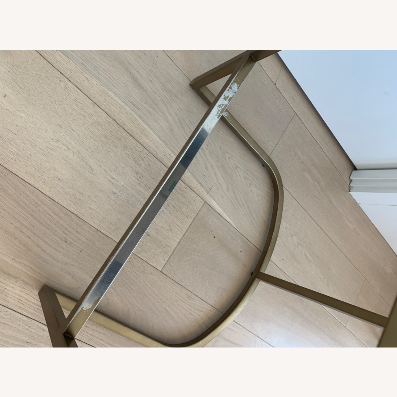 Restoration Hardware Modern Leather Counter Stools - image-4