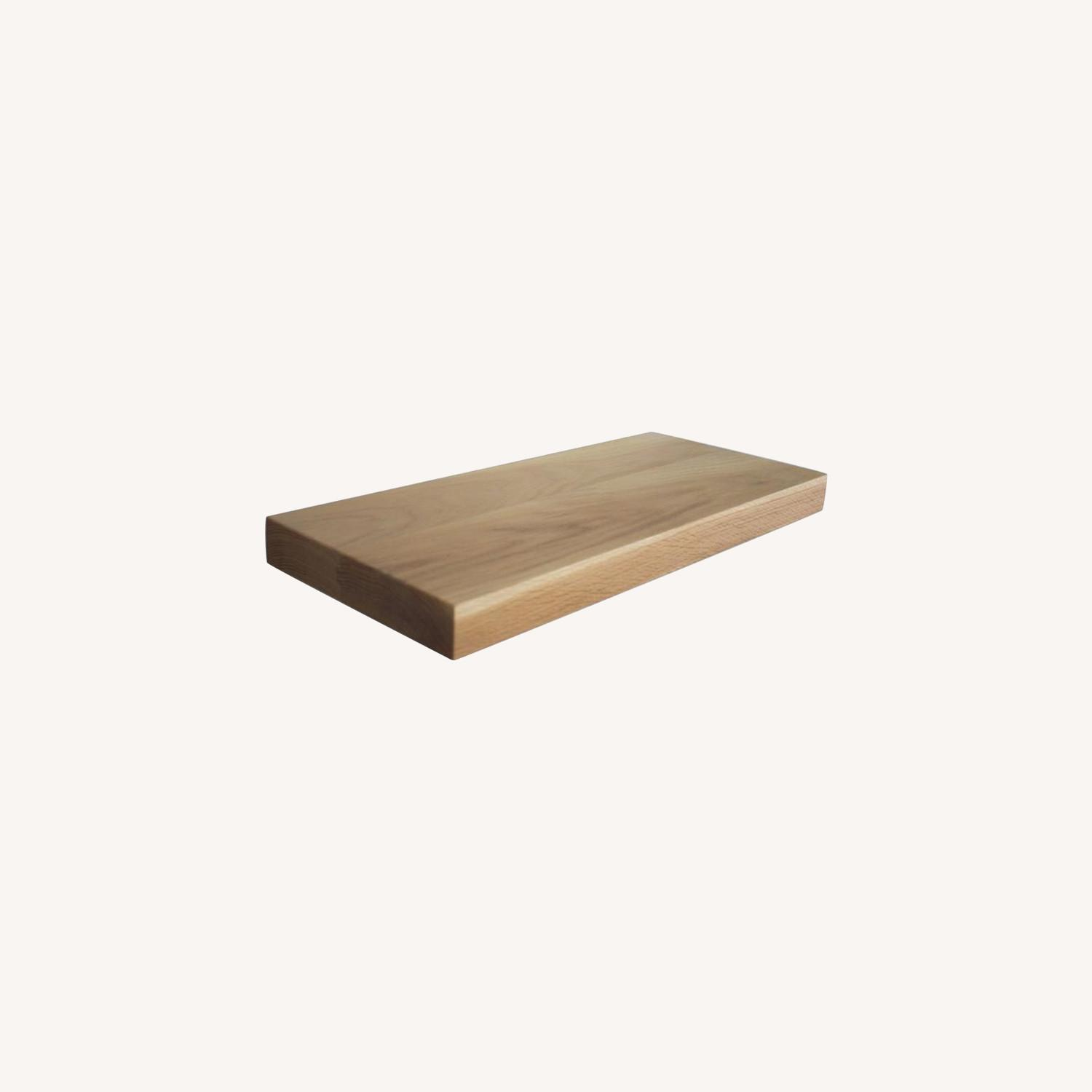 Solid Natural Oak Floating Shelves - image-10