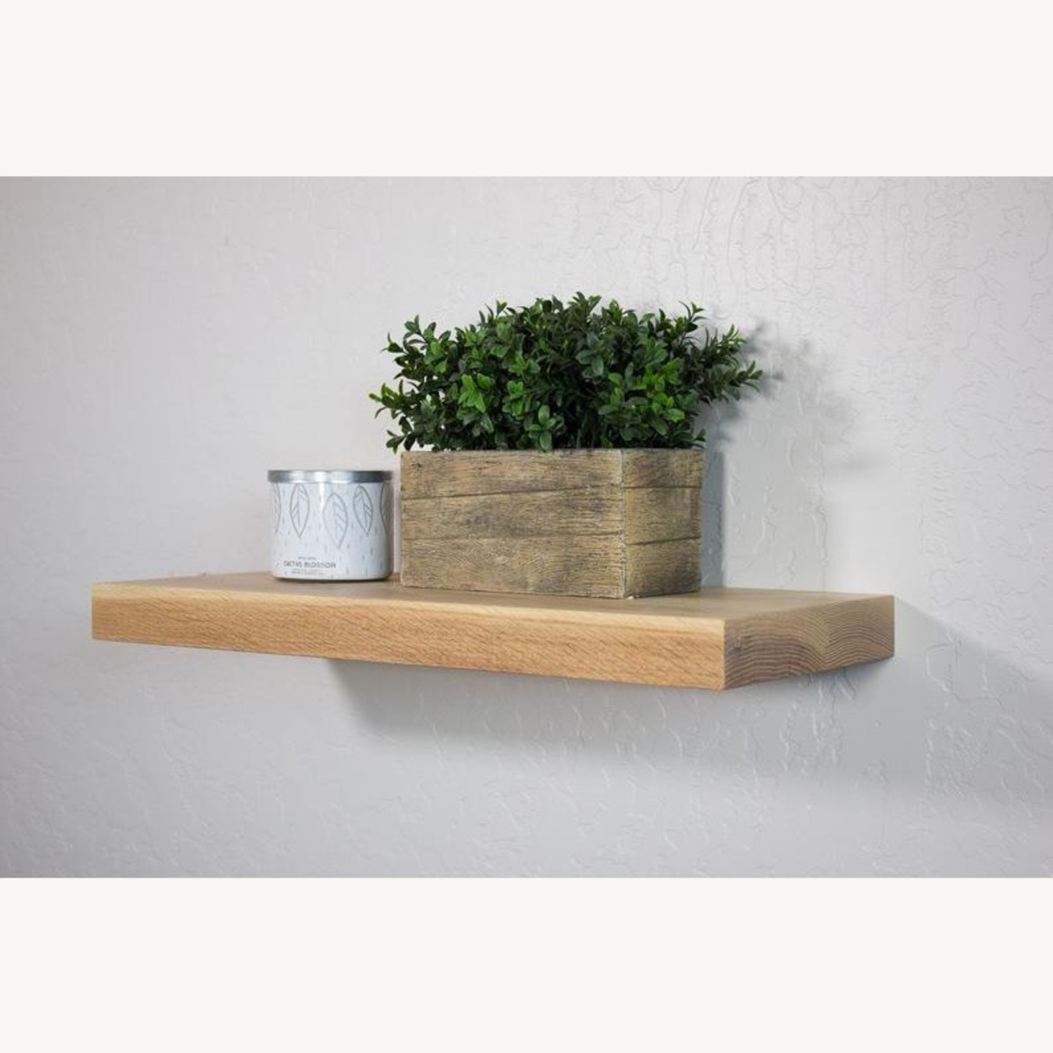 Solid Natural Oak Floating Shelves - image-2