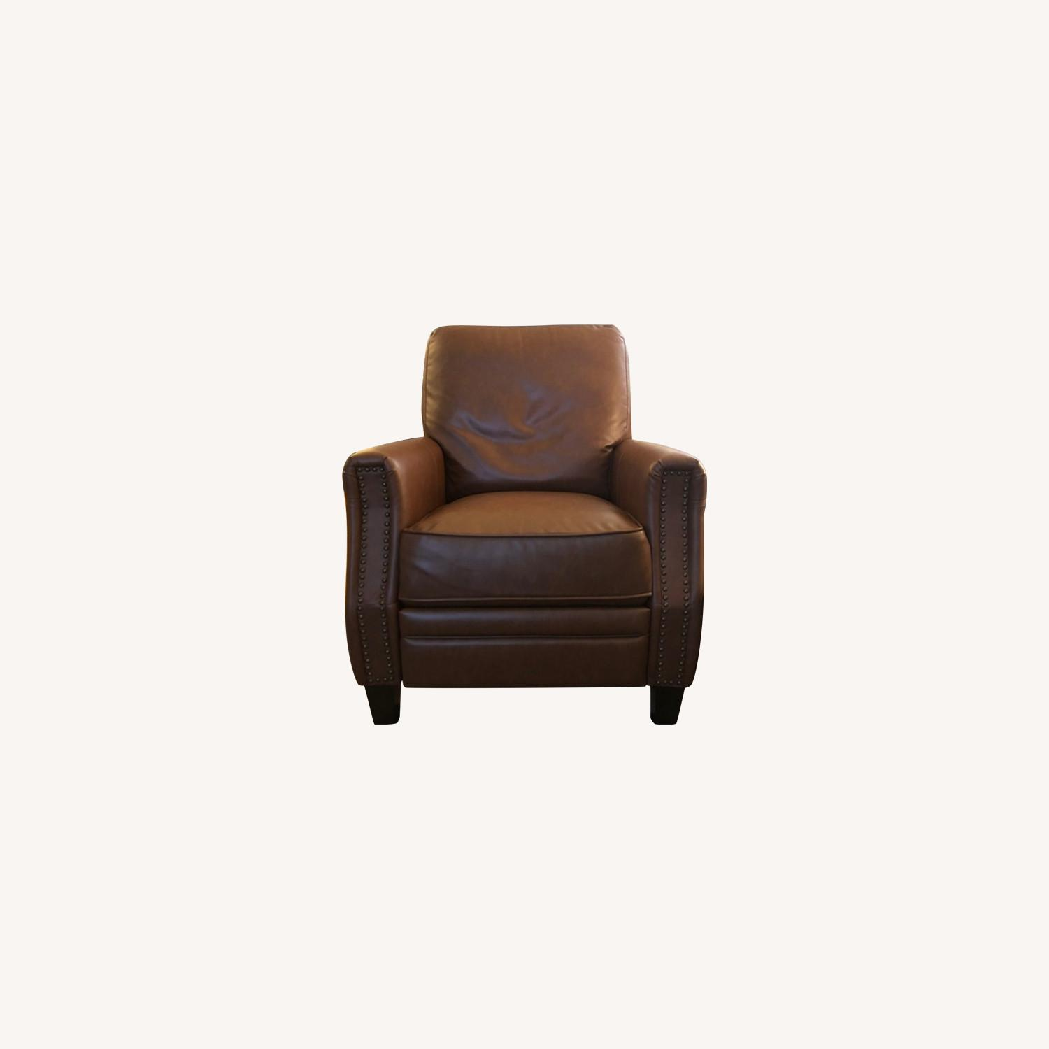 Target Pushback Recliner Camel Brown Faux Leather - image-0