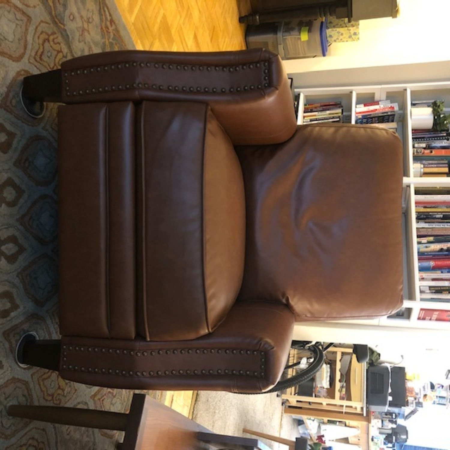 Target Pushback Recliner Camel Brown Faux Leather - image-5