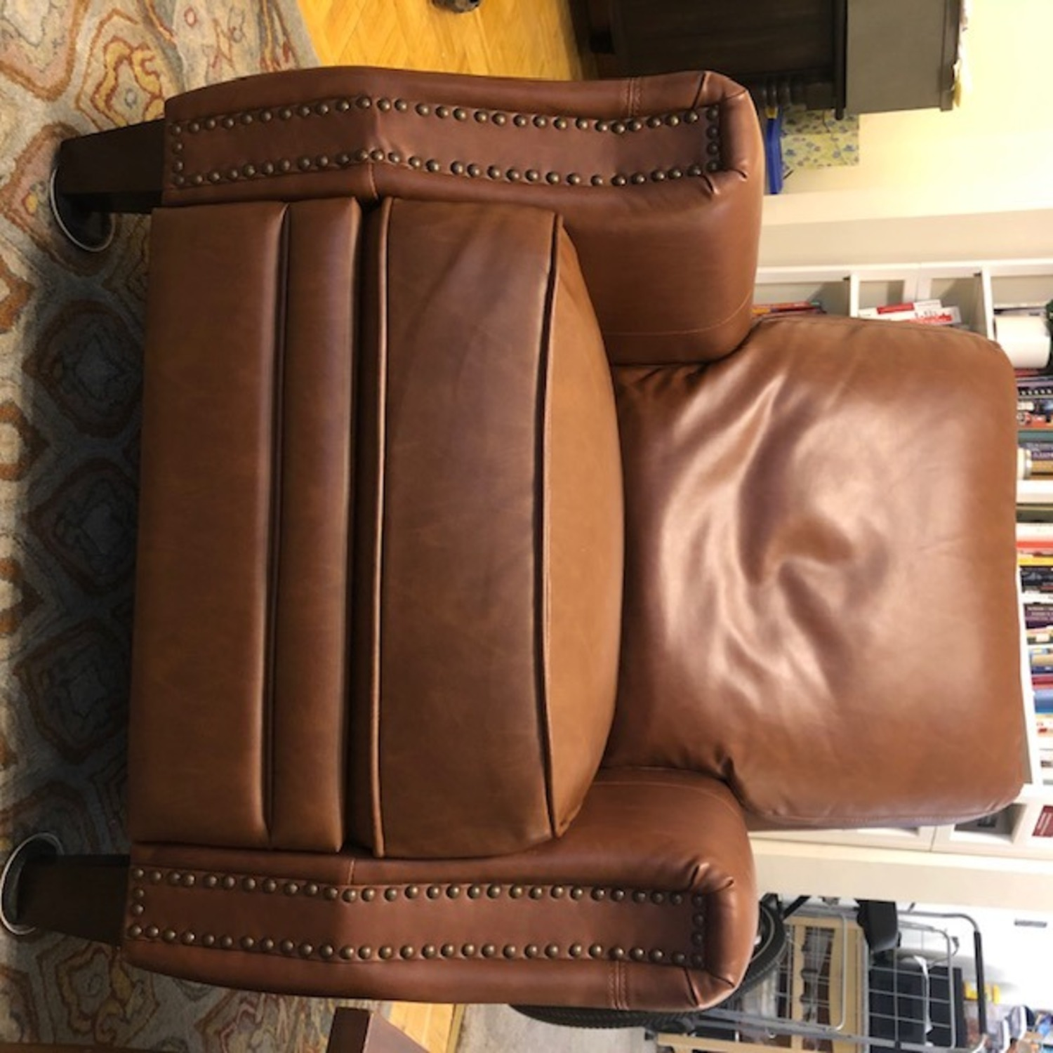 Target Pushback Recliner Camel Brown Faux Leather - image-4