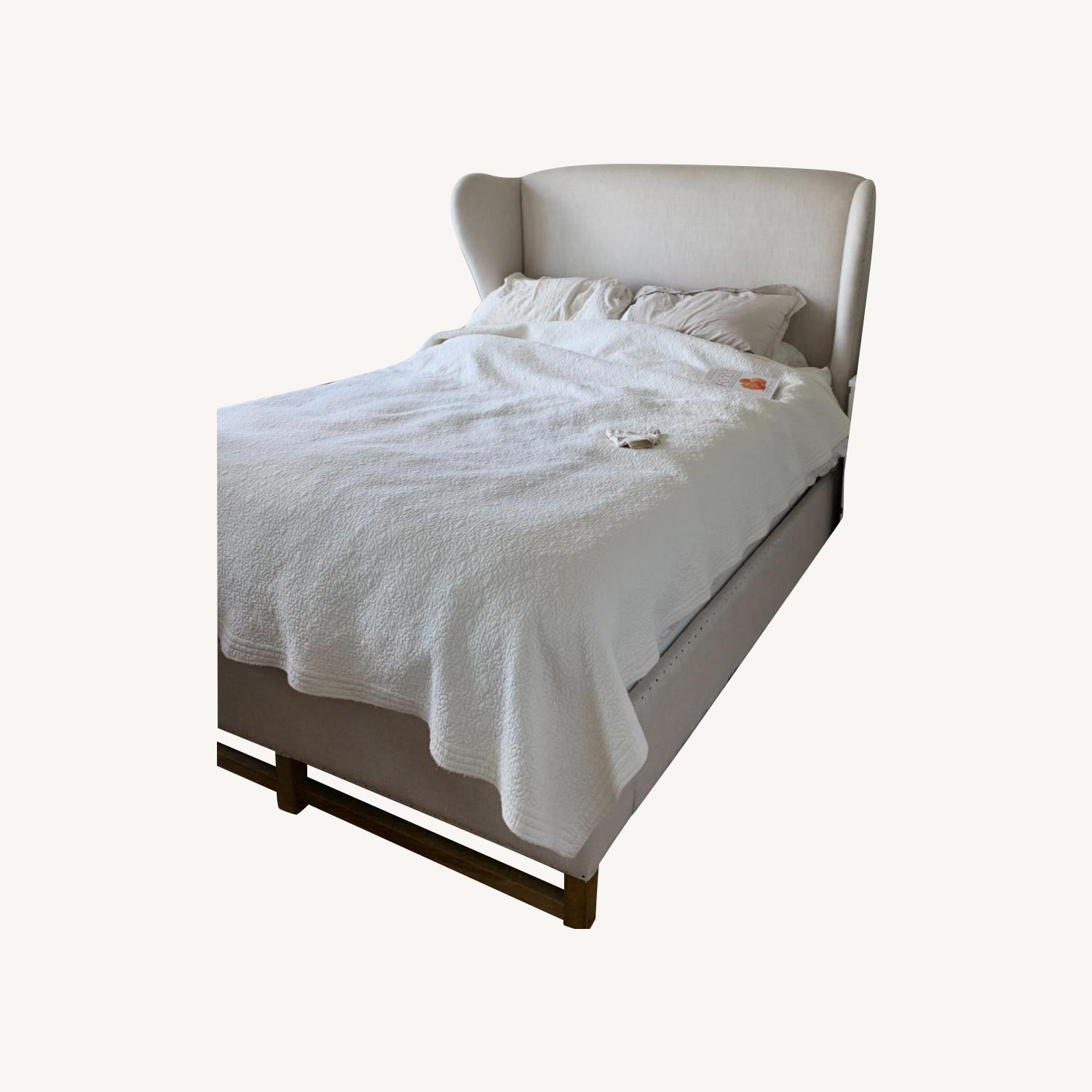 Restoration Hardware French Wing Queen Bed - image-0