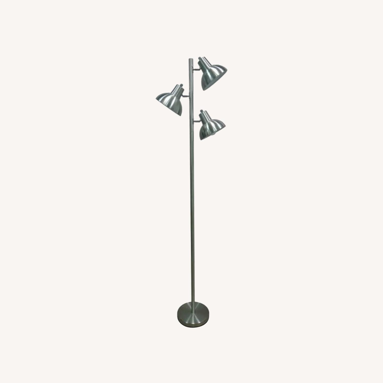 Modern Silver Floor Lamp - image-0