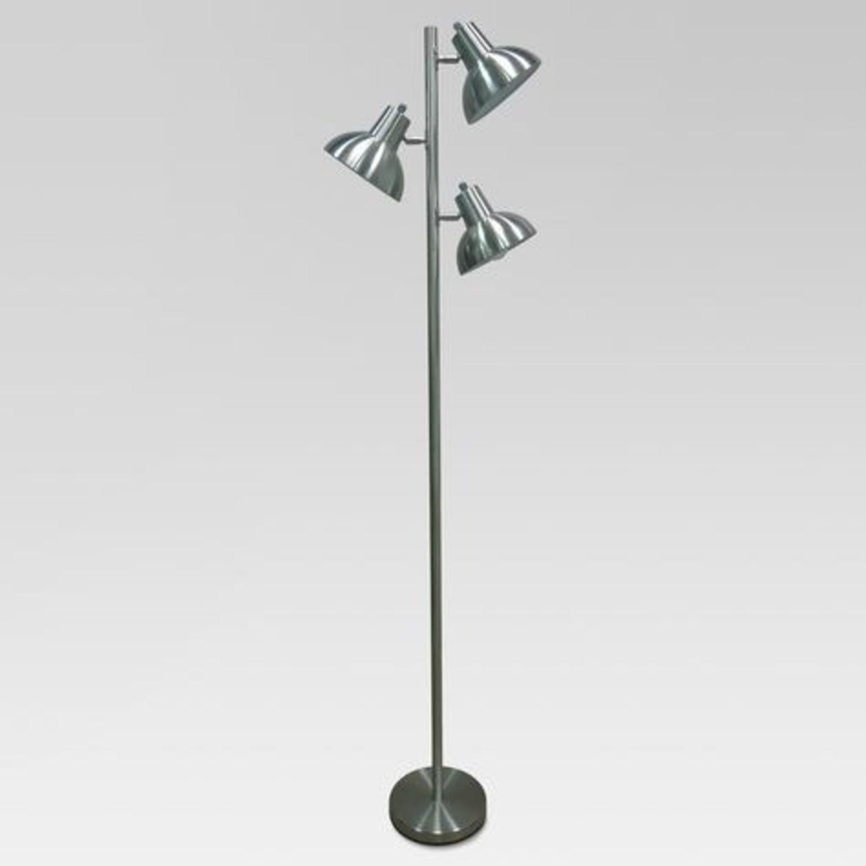 Modern Silver Floor Lamp - image-1