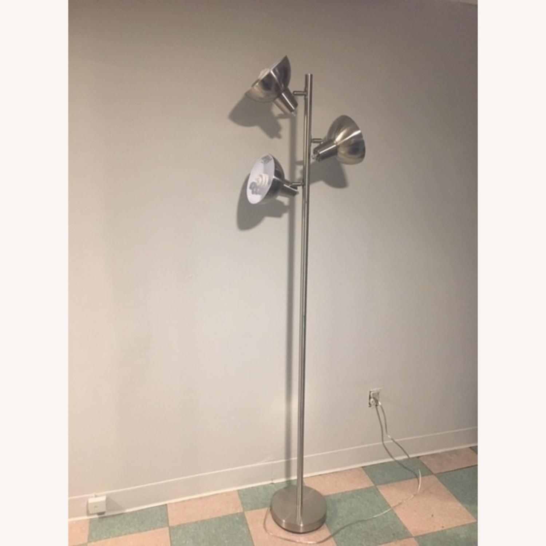 Modern Silver Floor Lamp - image-2