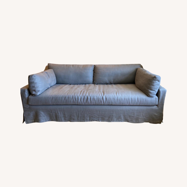 Restoration Hardware Grey Sleeper Sofa - image-0