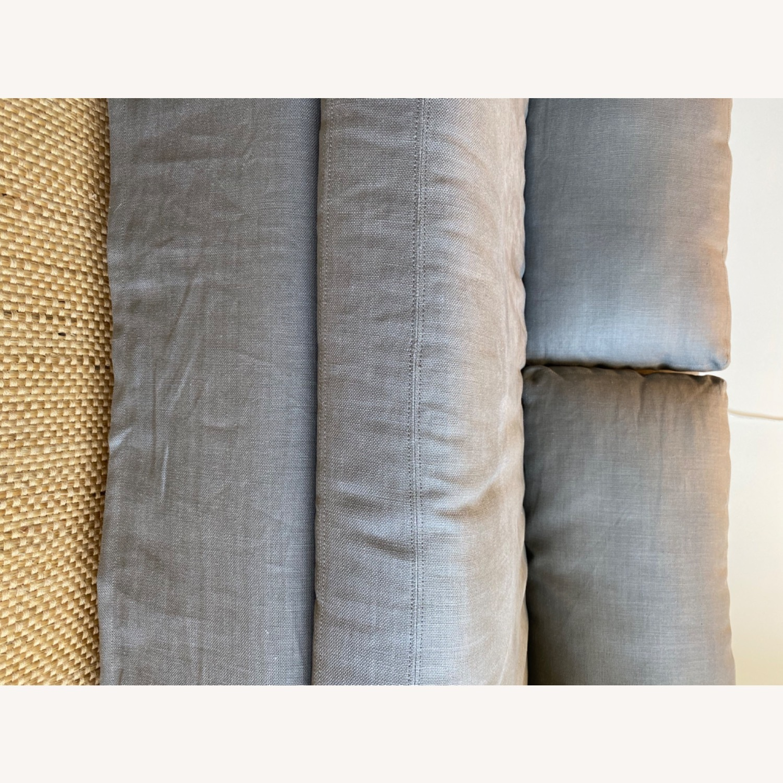 Restoration Hardware Grey Sleeper Sofa - image-3