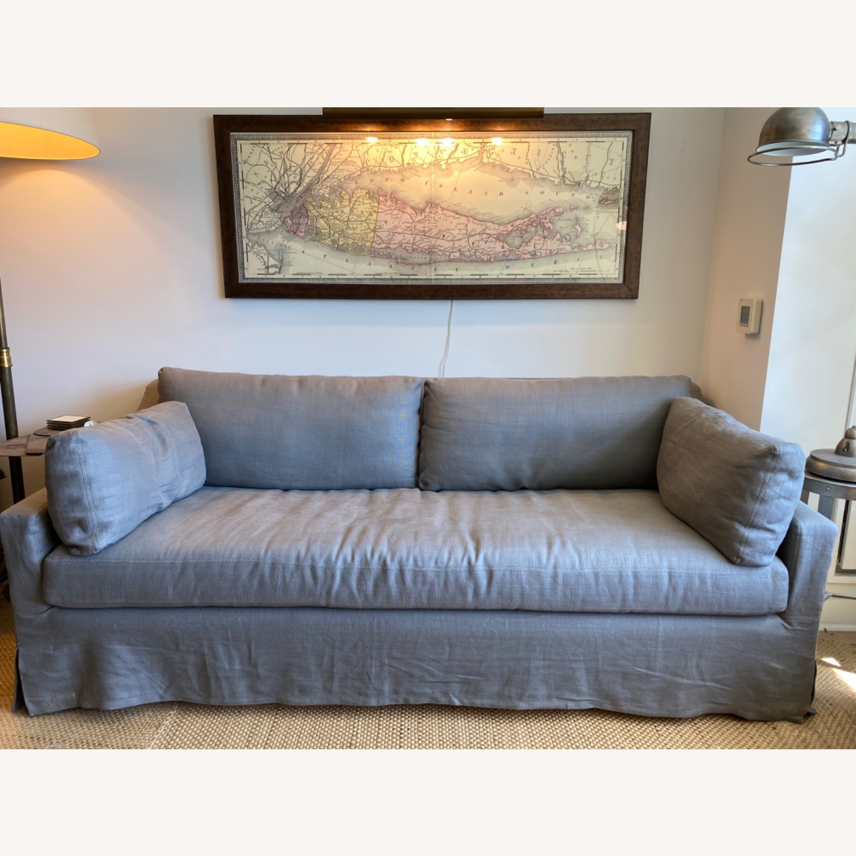 Restoration Hardware Grey Sleeper Sofa - image-1