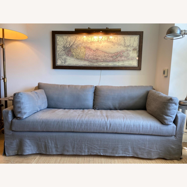 Restoration Hardware Grey Sleeper Sofa - image-2