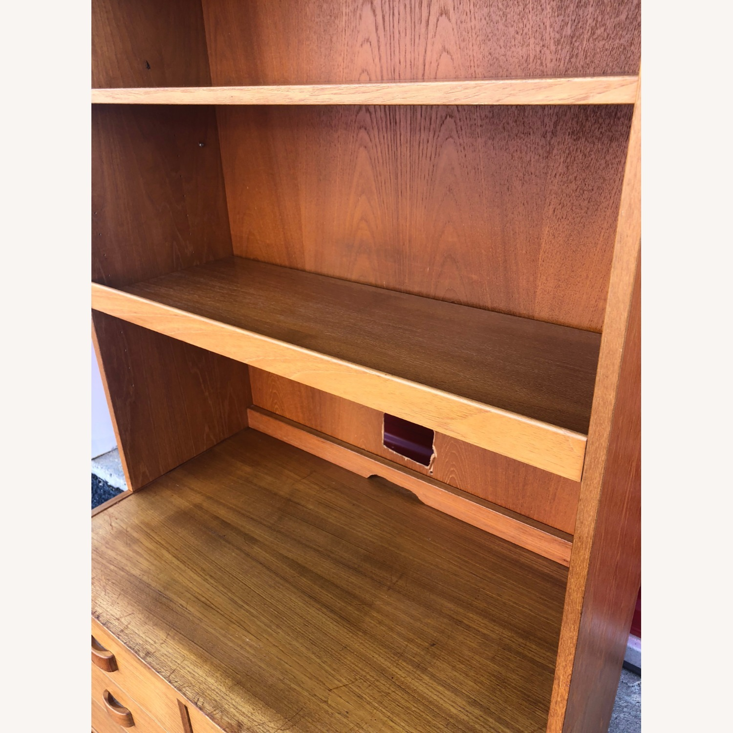 Danish Modern Teak Wall Unit with 6 Drawers - image-11