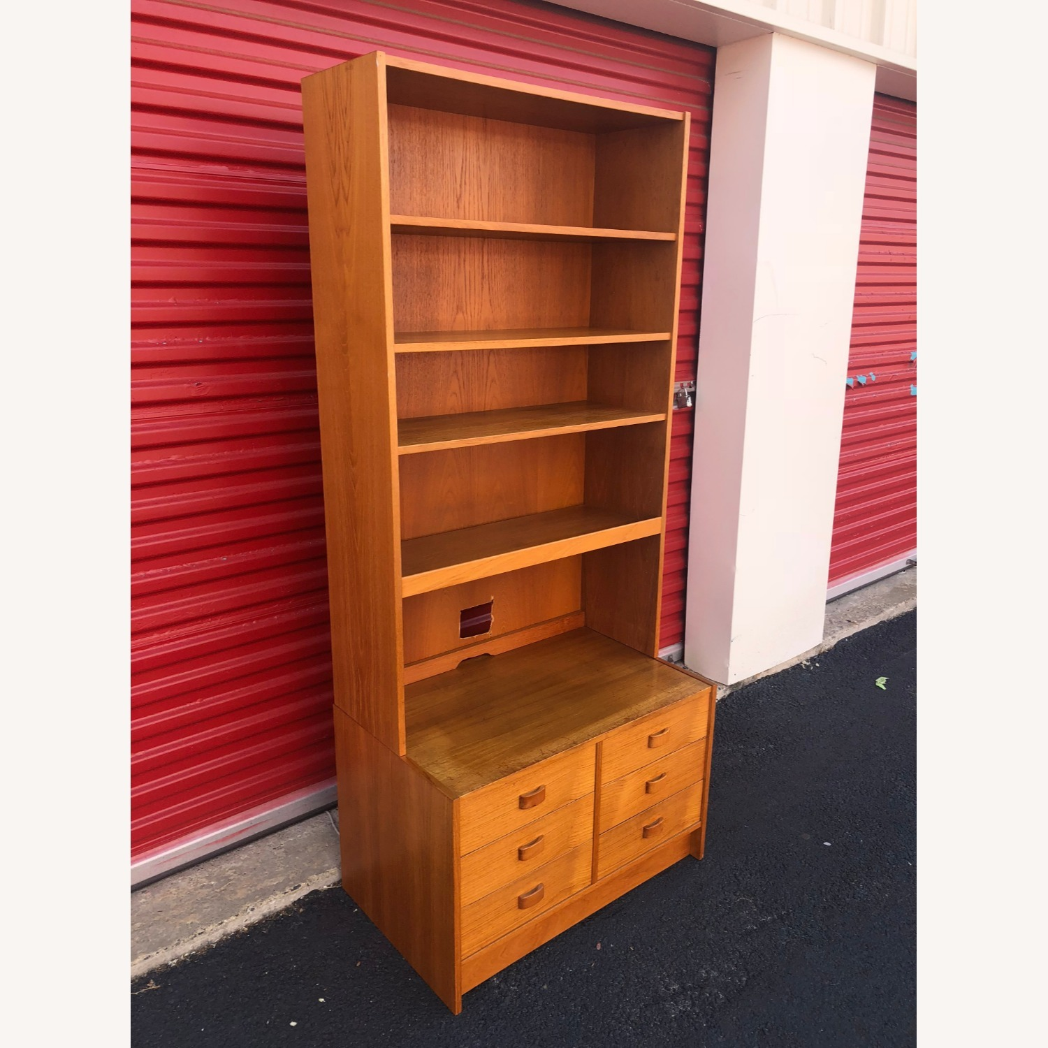 Danish Modern Teak Wall Unit with 6 Drawers - image-3