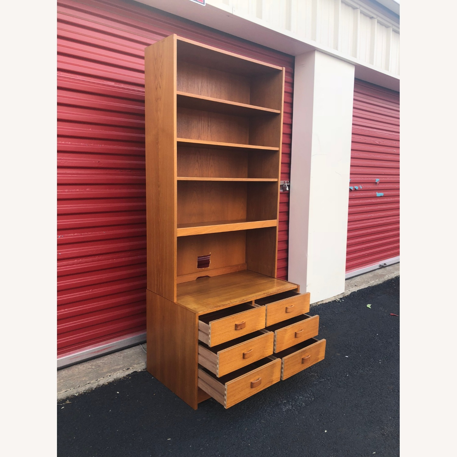Danish Modern Teak Wall Unit with 6 Drawers - image-7