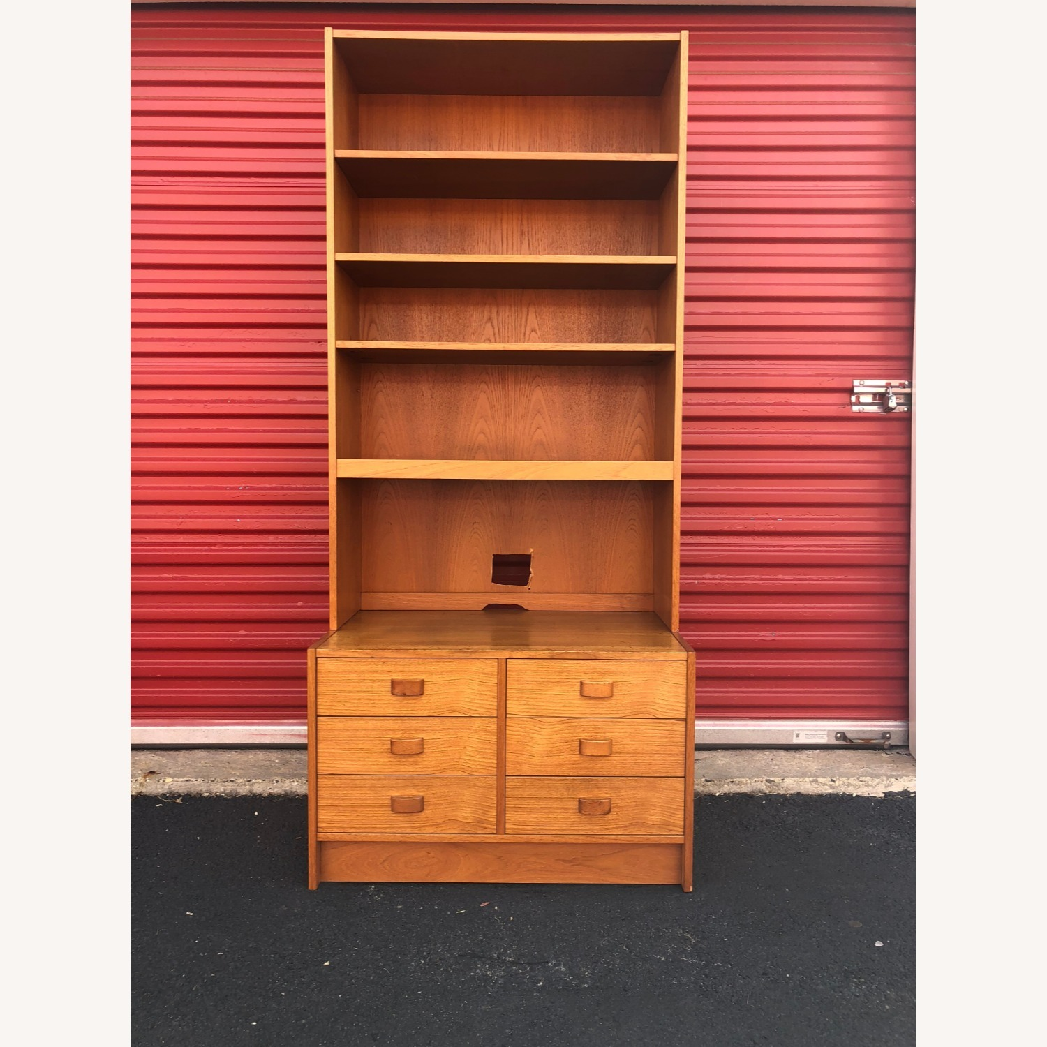 Danish Modern Teak Wall Unit with 6 Drawers - image-10