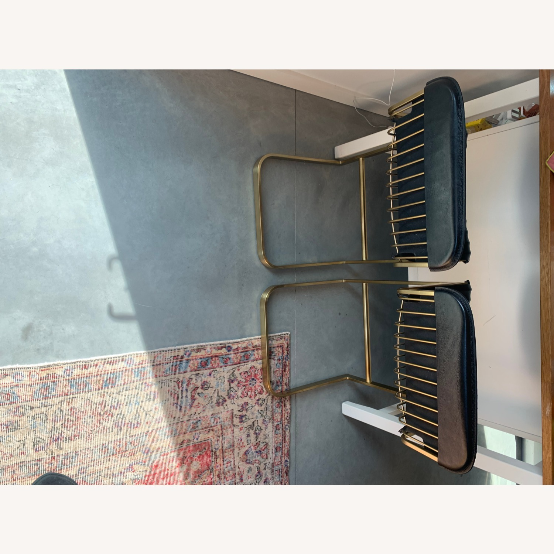 CB2 Rake Brass Counter Stools (set of two) - image-4