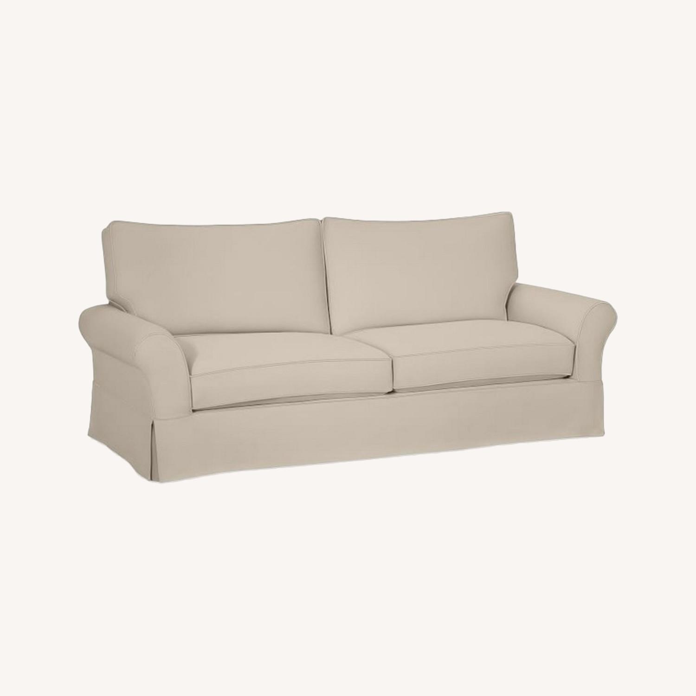 Pottery Barn Comfort Roll Arm Slipcovered Grand Sofa - image-0