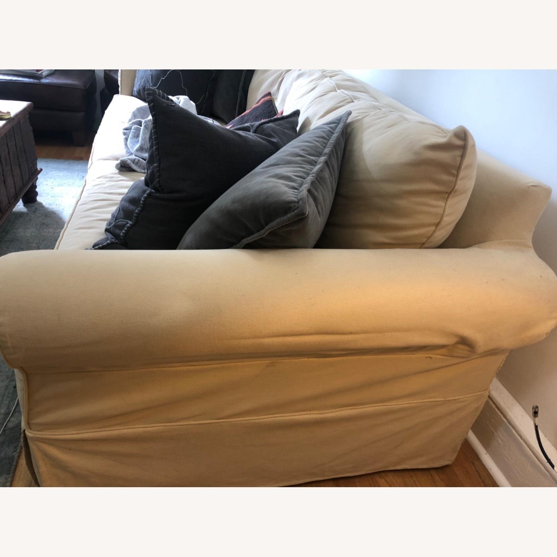 Pottery Barn Comfort Roll Arm Slipcovered Grand Sofa - image-3