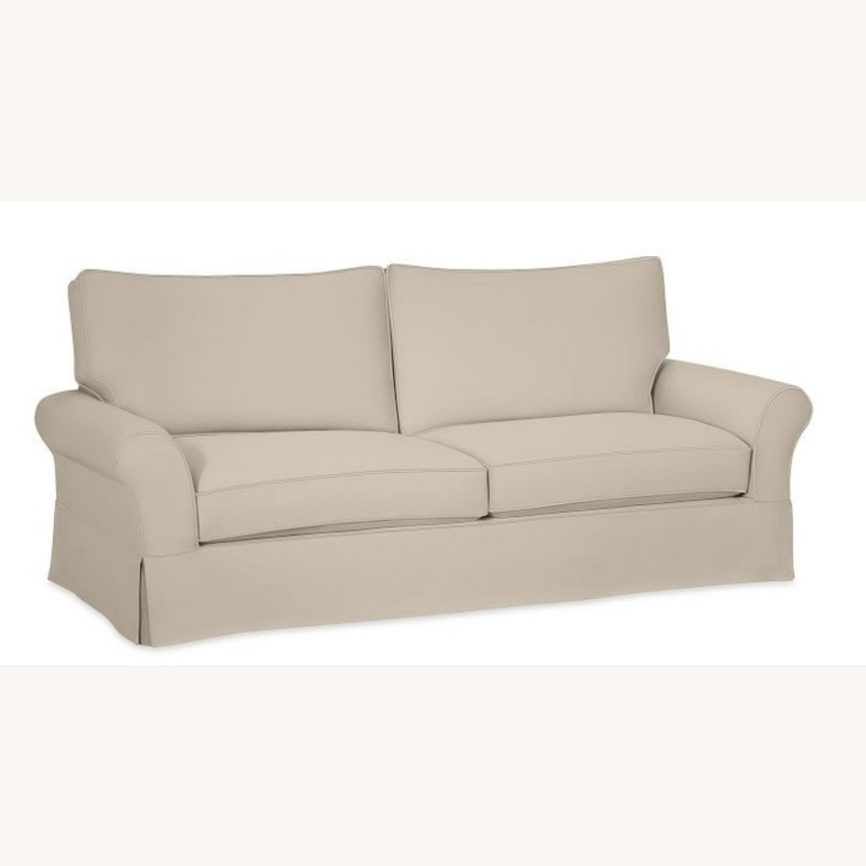 Pottery Barn Comfort Roll Arm Slipcovered Grand Sofa - image-2