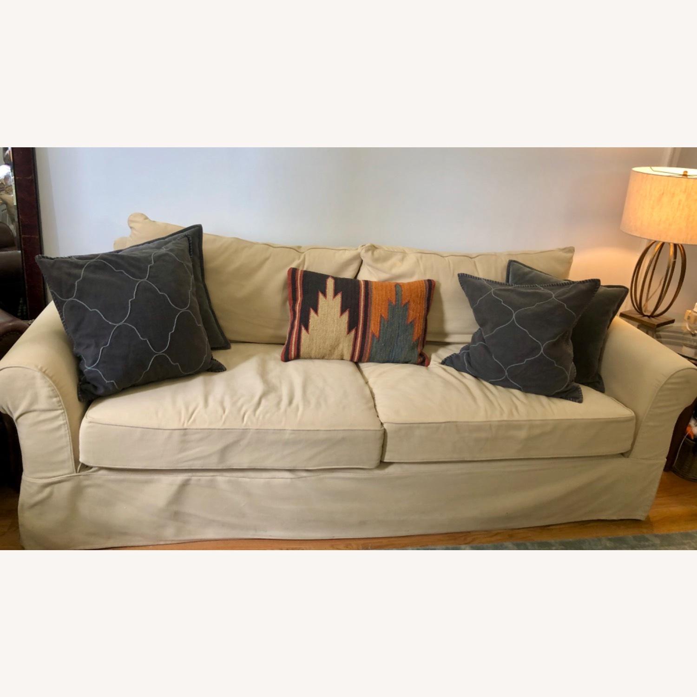 Pottery Barn Comfort Roll Arm Slipcovered Grand Sofa - image-1