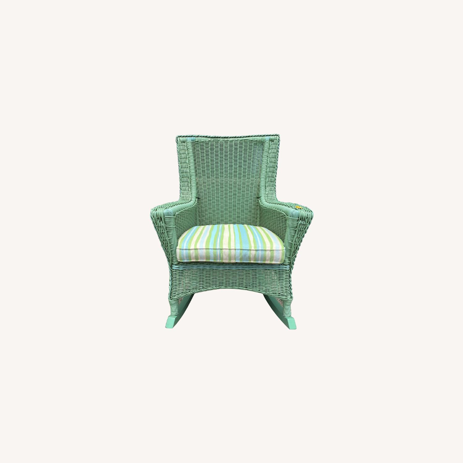 Maine Cottage Outdoor Wicker Rockers - image-0