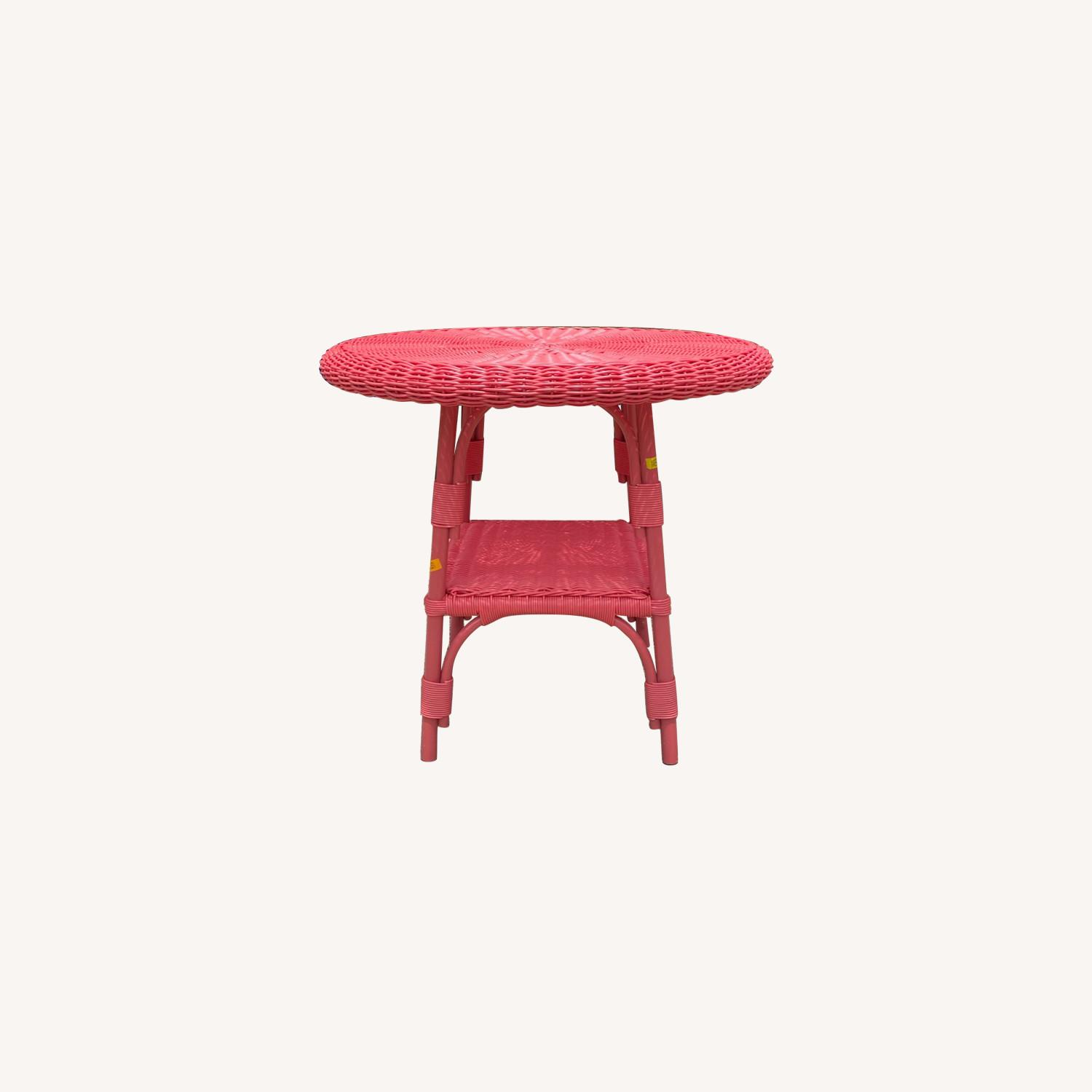 Maine Cottage Outdoor Wicker Side Table - image-0