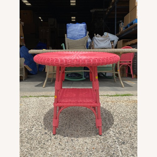 Used Maine Cottage Outdoor Wicker Side Table for sale on AptDeco