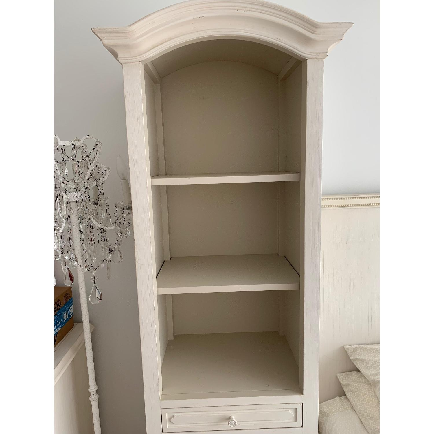 Restoration Hardware White Wood Baby&Child Bookcase Tower - image-3