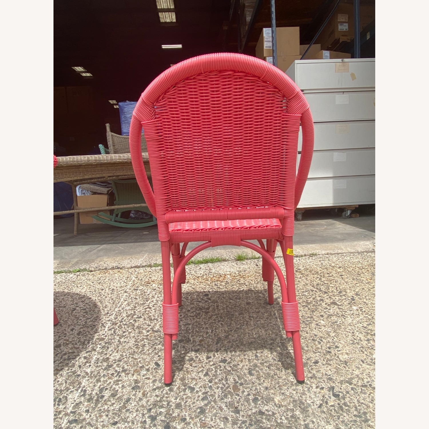 Two Maine Cottage Pink Outdoor Wicker Chairs - image-3