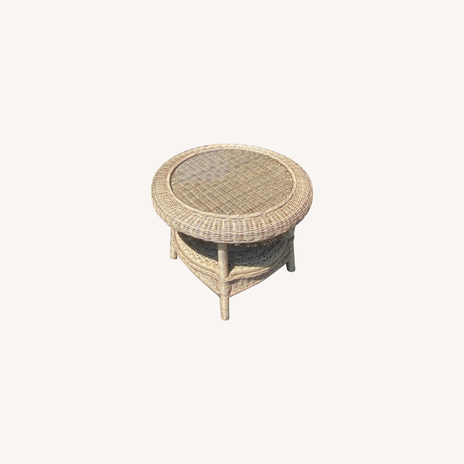 Restoration Hardware Wicker Bistro Table - image-0